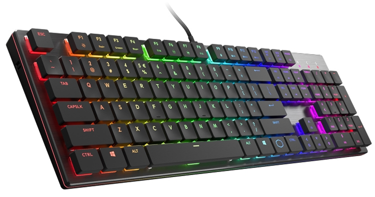 низкопрофильная клавиатура cooler master sk650 наделена rgb-подсветкой
