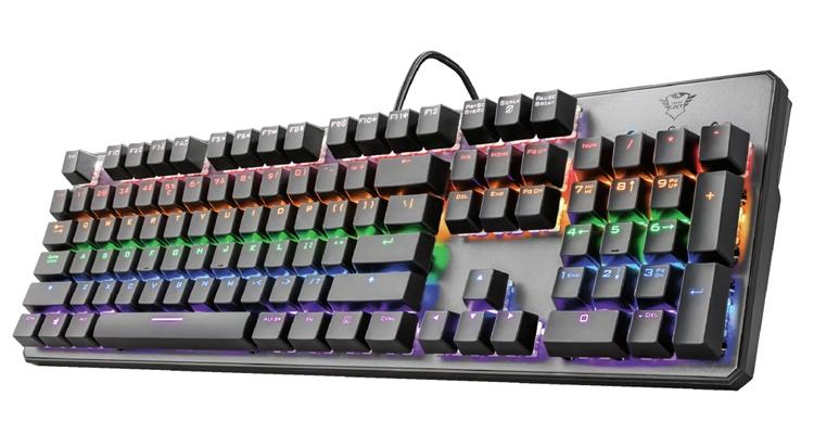 trust gxt 865 asta игровая клавиатура механическими переключателями