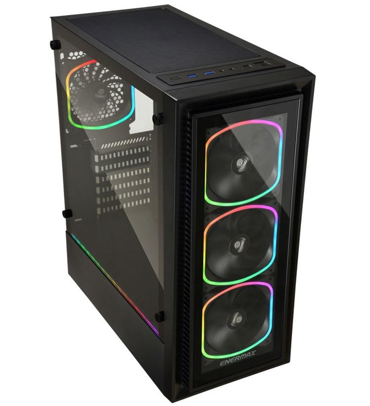 Enermax StarryFort SF30: ПК-корпус с четырьмя вентиляторами SquA RGB