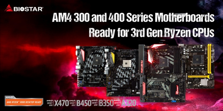 Все материнские платы Biostar с Socket AM4 получили поддержку Ryzen 3000