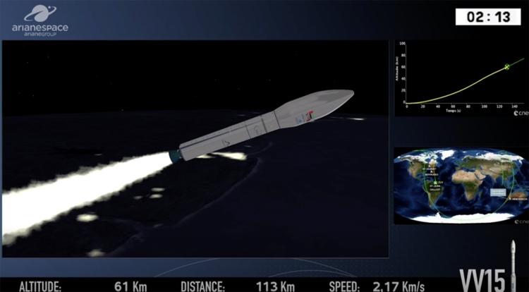 Из-за неудачи с запуском ракеты Arianespace Vega утерян военный спутник