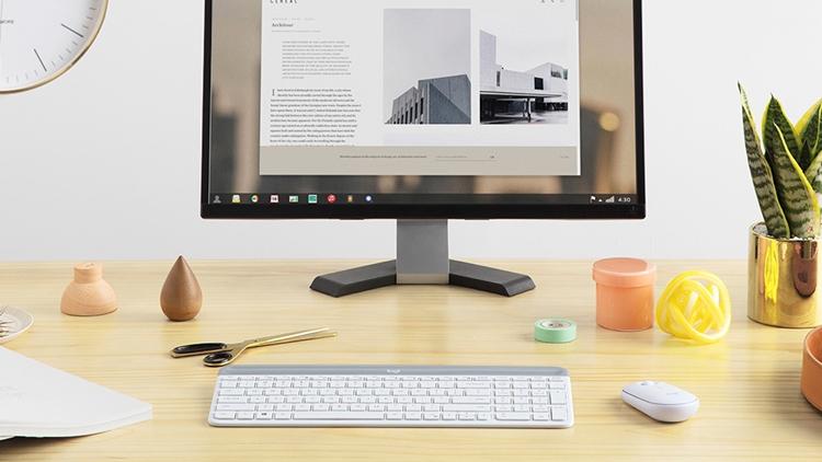 logitech mk470 slim wireless combo беспроводные клавиатура мышь