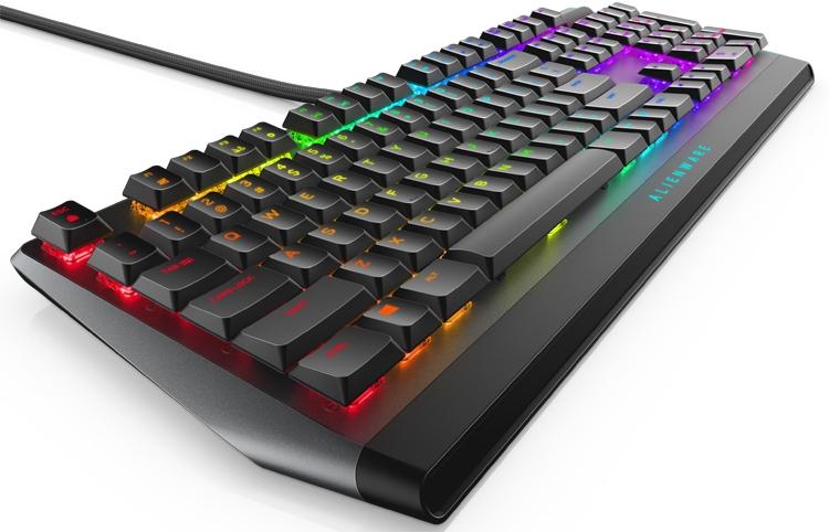 alienware aw510k низкопрофильная механическая клавиатура rgb-подсветкой