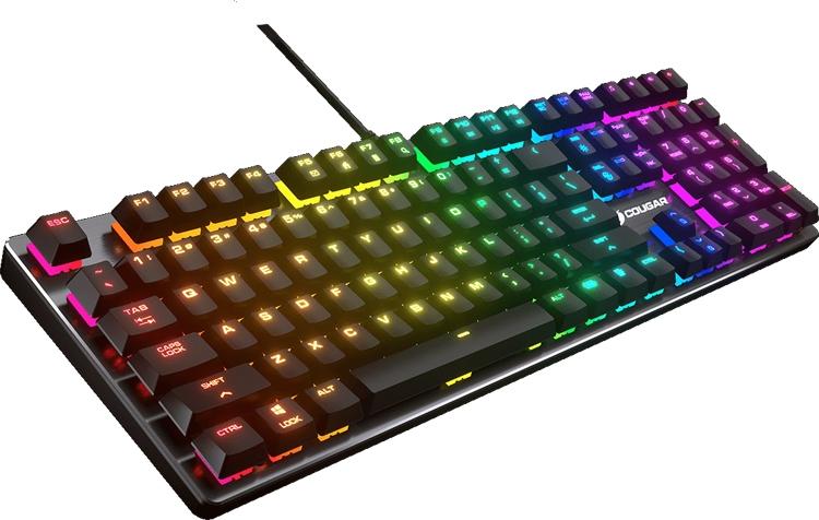 игровая клавиатура cougar vantar механические переключатели rgb-подсветка
