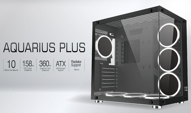 Корпус-аквариум Xigmatek Aquarius Plus допускает установку десяти 120-мм вентиляторов