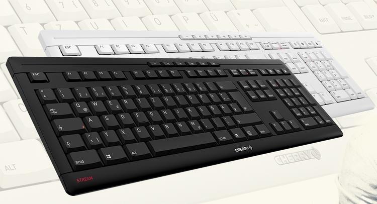 новая клавиатура cherry stream снабжена набором дополнительных кнопок