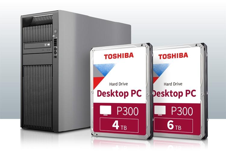 Ёмкость жёстких дисков Toshiba P300 достигла 6 Тбайт