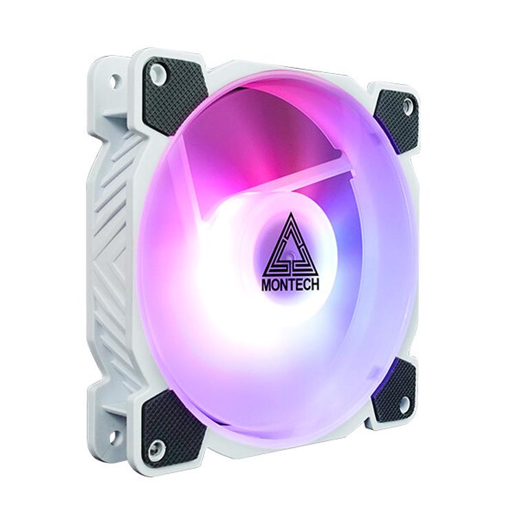 Вентиляторы Montech Z3 Pro ARGB выполнены в белом цвете и имеют RGB-подсветку