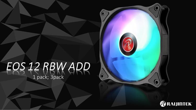Корпусные вентиляторы Raijintek EOS 12 RBW ADD снабжены эффектной подсветкой