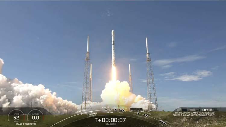Использовавшаяся в шестой раз ракета SpaceX Falcon 9 успешно вывела на орбиту очередную партию спутников Starlink
