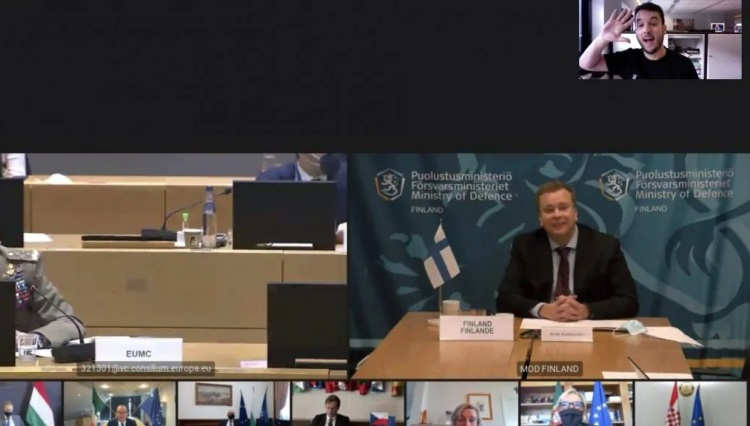 Журналист сумел подключиться к закрытой видеоконференции министров обороны Евросоюза