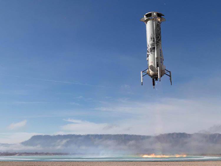 Blue Origin завтра запустит суборбитальный космический корабль New Shepard