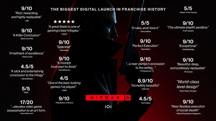Hitman 3: крупнейший цифровой старт в серии и долгосрочная поддержка обновлениями