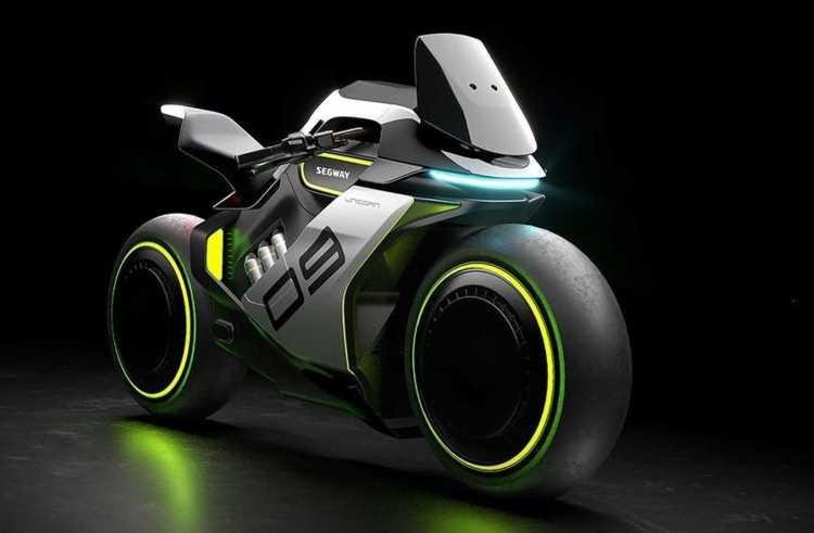 Segway представила концепт гибридного мотоцикла Apex H2 на водороде и электричестве