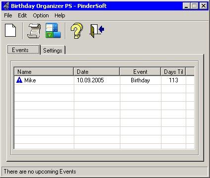 PS Birthday Organizer