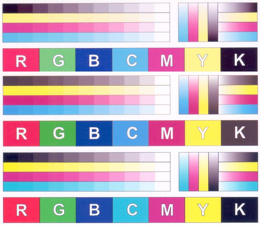 картинка со всеми цветами для проверки принтера