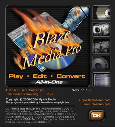 مجموعة البرامج الكاملة لشركة AIO Blaze Media للفيديو والصوتيات