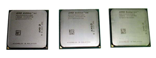 Athlon64 3000+ Socket 939, Athlon64 3000+ Socket 754 и Sempron 3000+ Socket 754.