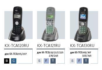 Дополнительные трубки к DECT-телефонам  Panasonic серий  200 и 300
