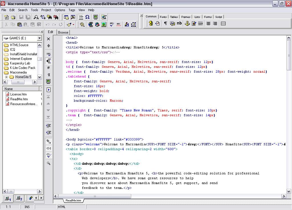 Программа для редактирования html