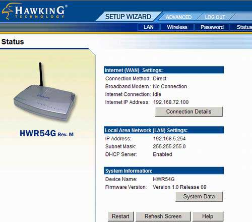 HWR54G Router