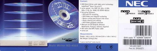 NEC - модели ND-4551 с технологией LabelFlash