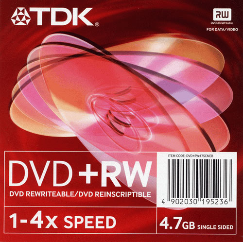 TDK DVD+RW 4x slim