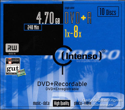 Intenso DVD+R 8x box