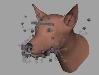 контрольные точки для лицевой анимации