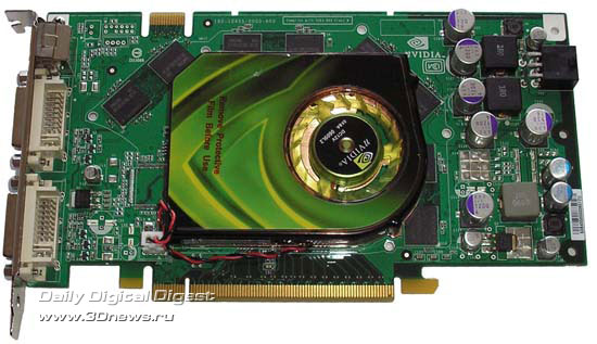 Point of View GeForce 7900GT спереди