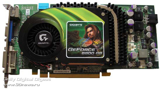 GigaByte GeForce 6800GS спереди