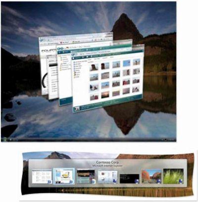 Новый Рабочий стол Windows в стиле 3D