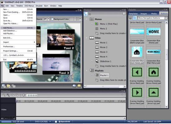 Sonic DVD it Pro 6 - Добавить видеофрагмент