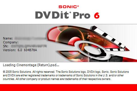 Sonic DVD it Pro 6 - Логотип программы во время ее загрузки