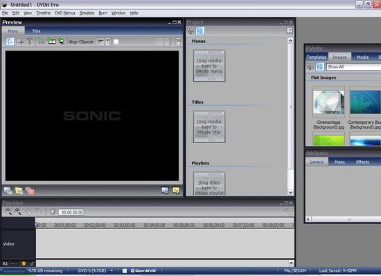 Sonic DVD it Pro 6 - окно программы DVD it Pro 6