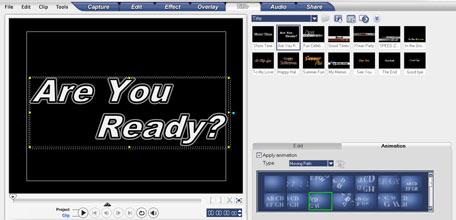 Ulead Video Studio 10 спецэффекты текстовые эффекты