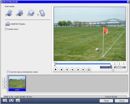 Ulead Video Studio 10 экспорт на оптический носитель