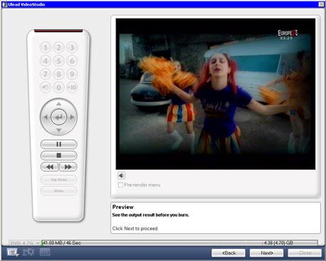 Ulead Video Studio 10 проверка и предпросмотр конечного результата