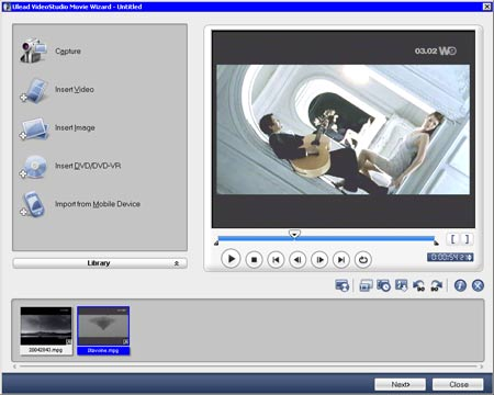 Ulead Video Studio 10 создание редактирование видео в режиме мастера movie wizard