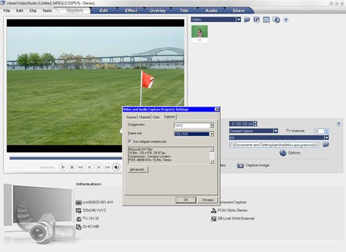 Ulead Video Studio 10 редактирование видео установка разрешения