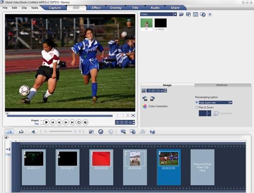 Ulead Video Studio 10 редактирование видео раскадровка сюжет