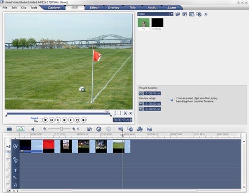 Ulead Video Studio 10 редактирование видео вставка изображения
