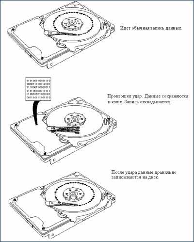 Защита HDD от ударов (Shock protection HDD) .