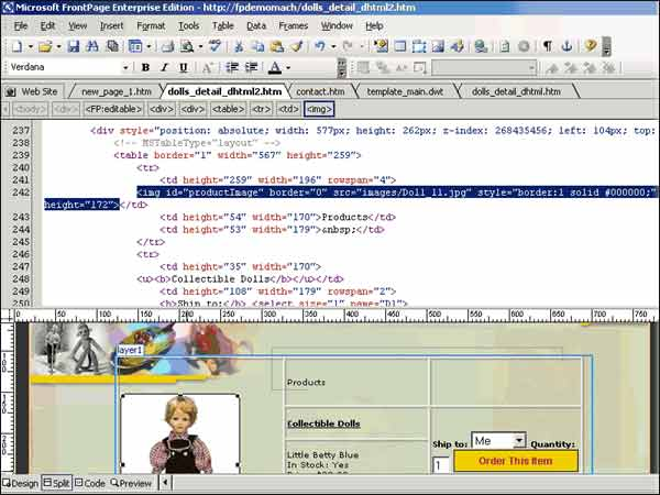 Microsoft FrontPage 2003 download.