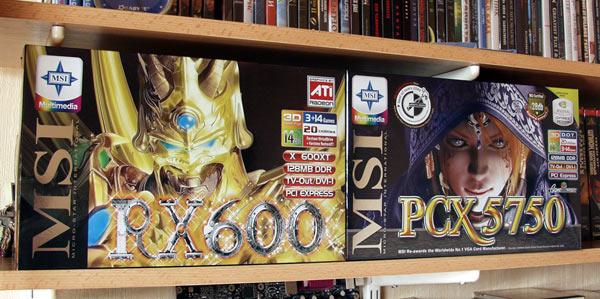 MSI RX600XT & GeForce PCX5750