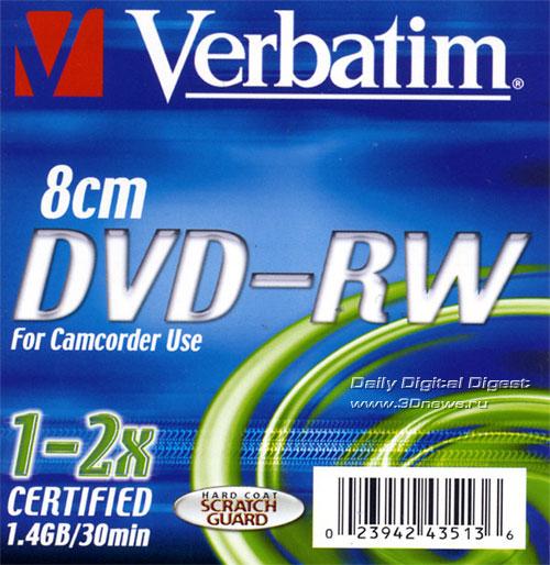 Verbatim DVD-RW 8cm 2x box