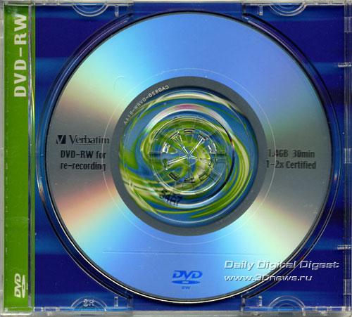 Verbatim DVD-RW 8cm 2x disk