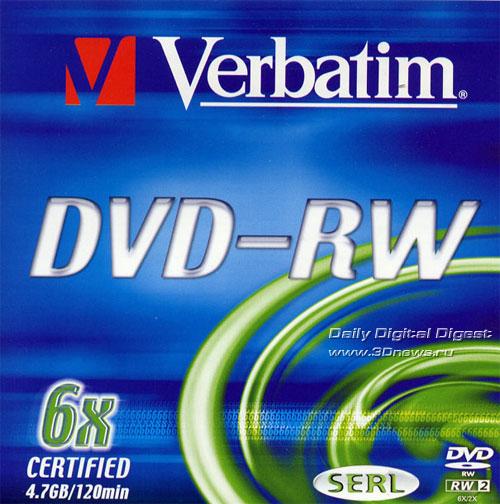 Verbatim DVD-RW 6x box