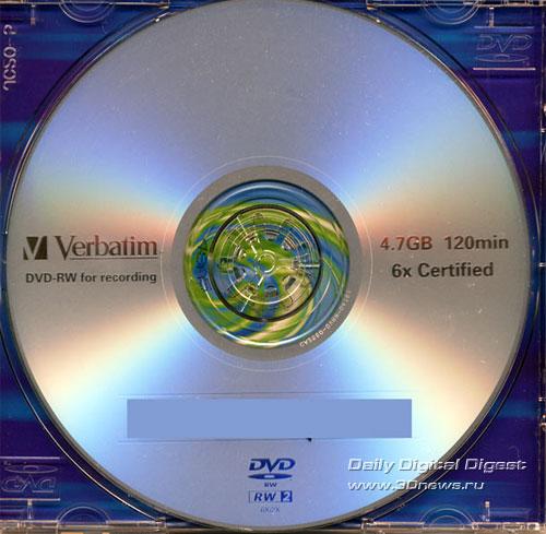 Verbatim DVD-RW 6x disk