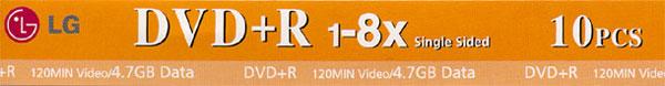 LG DVD+R 8x